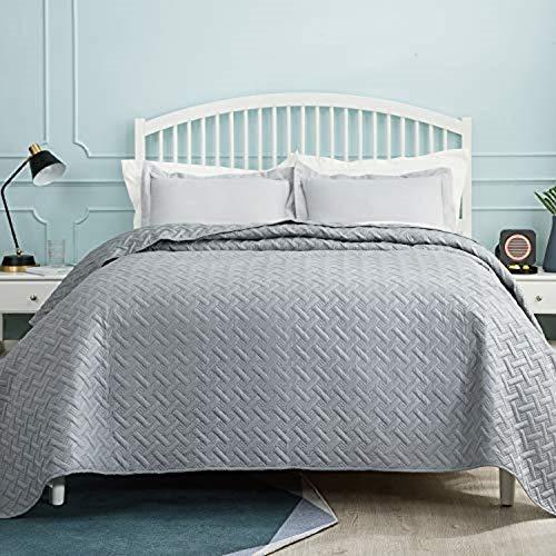 BEDSURE Tagesdecke 200x220 grau Schlafzimmer- Bettüberwurf 200 x 220...