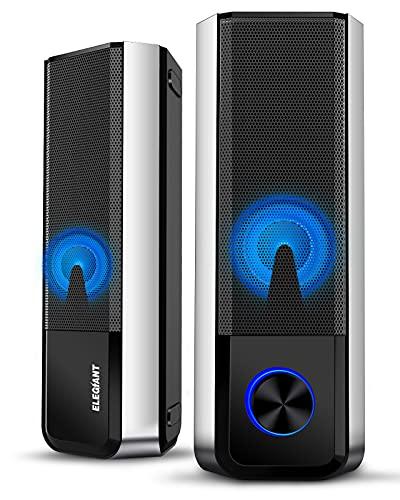 ELEGIANT PC Lautsprecher, Bluetooth 5.0 Computer Lautsprecher...
