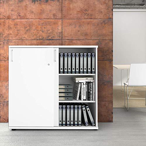 Uni Aktenschrank 1,2M abschließbar 3OH Weiß Büroschrank...