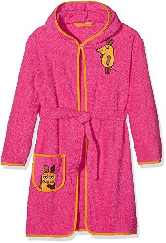 Playshoes Mädchen Frottee-bademantel die Maus Bademantel, Rosa (pink...
