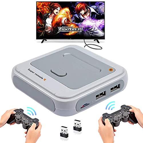 Retro Arcade Spielekonsole WiFi Super Console X mit 33000 Spiele + 2...