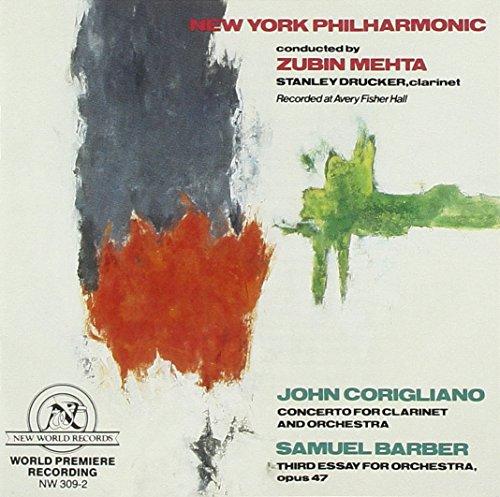 Barber: Third Essay,Corigliano: Concerto Clarinet