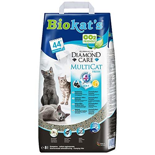 Biokat's Diamond Care MultiCat Fresh mit Duft - Feine Katzenstreu mit...