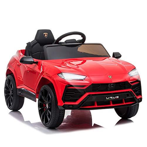 HOMCOM Kinderfahrzeug Elektroauto Sicherheitsgurt Fernbedienung MP3...