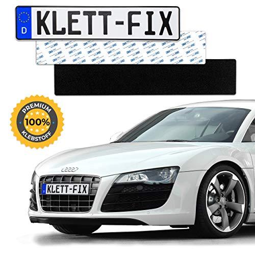 1 x Klett-Fix® Auto und Motorrad Kennzeichenhalter rahmenlos -...