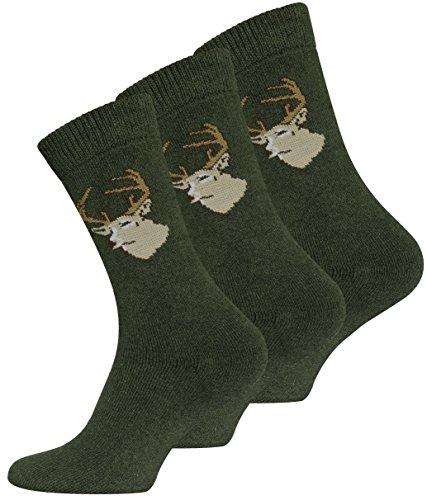 6 Paar JÄGER Socken Frottee, original VCA, Grün Gr.-43/46