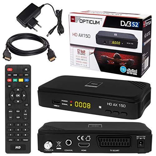 HB-DIGITAL SATELLITEN SAT Receiver Opticum AX150 Hochwertiger DVB-S/S2...