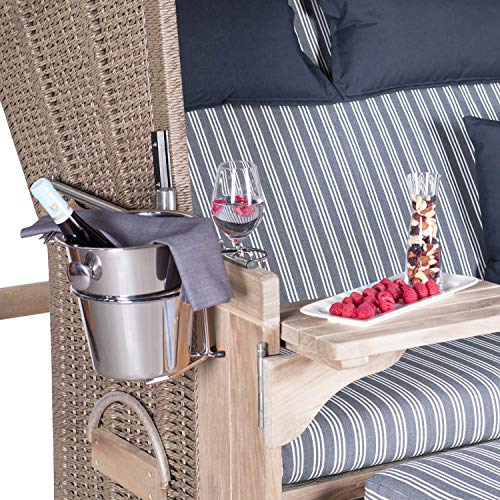Mr. Deko Champagnerkühler für Strandkörbe - Sekt - Behälter -...