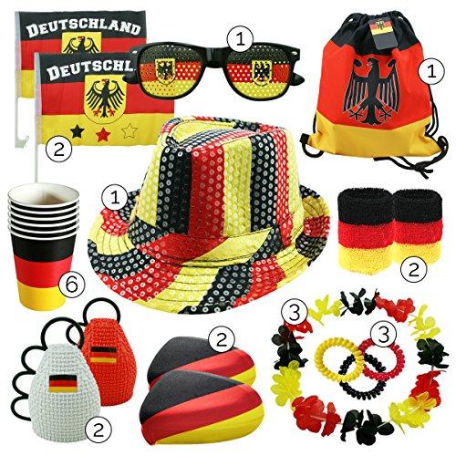 int!rend - Fanartikel Deutschland Set, 23 Stück, Fanset für...