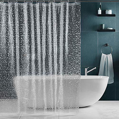 SPARIN Duschvorhang 180x200cm transparent, durchsichtig Duschvorhänge...