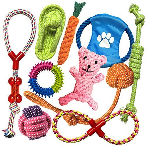 TINGERIA® Hundespielzeug für kleine & mittelgroße Hunde,...