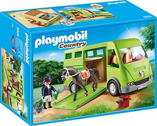 PLAYMOBIL Country Pferdetransporter mit Reiter und Pferd inkl....