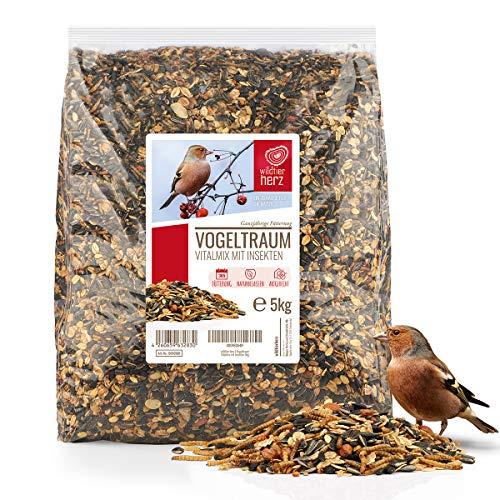 wildtier herz I Vogeltraum Vitalmix Sommerfutter - Premium Insekten...