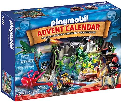 PLAYMOBIL Adventskalender 70322 Schatzsuche in der Piratenbucht, Für...
