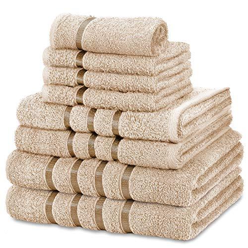FAIRWAYUK Handtuch-Set für Badezimmer, 8-teilig, ultraweich,...