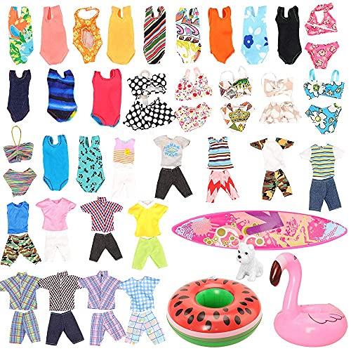 Miunana 12 Kleidung Zubehör für Puppen (3 Strandkleidung & 5...