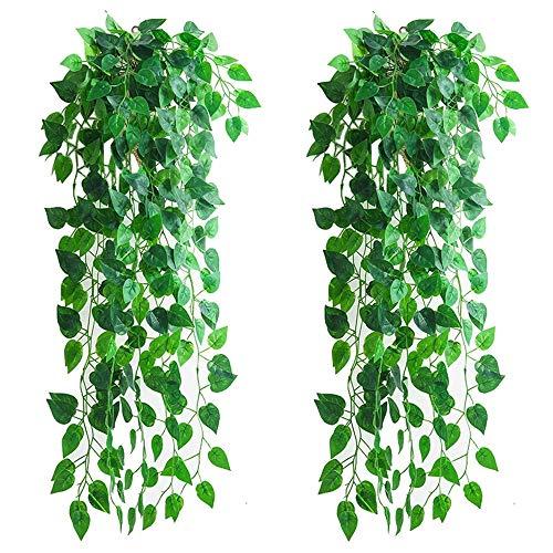 4 Stück künstliche hängende Pflanzen, 90 cm gefälschte Efeupflanze...