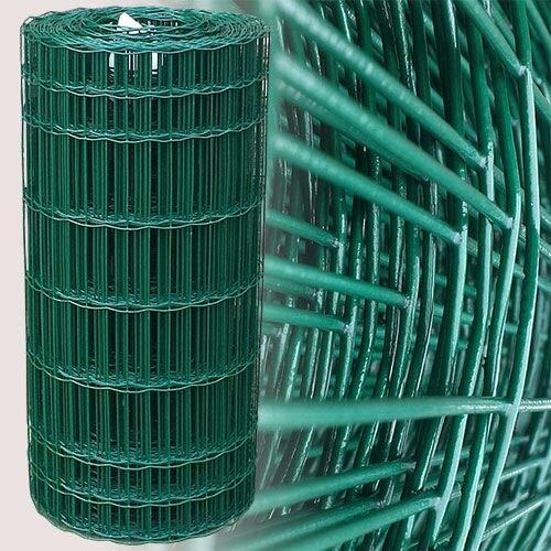 Garmix Gartenzaun 25m Grün Maschendrahtzaun 7,5 x 10 cm (80cm)