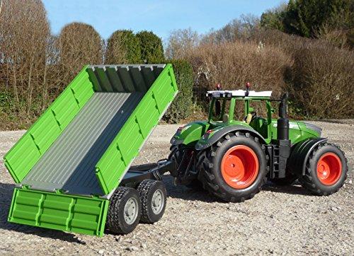 WIM-Modellbau RC Traktor FENDT 1050 + Kipp-Anhänger in XL Länge 70cm...