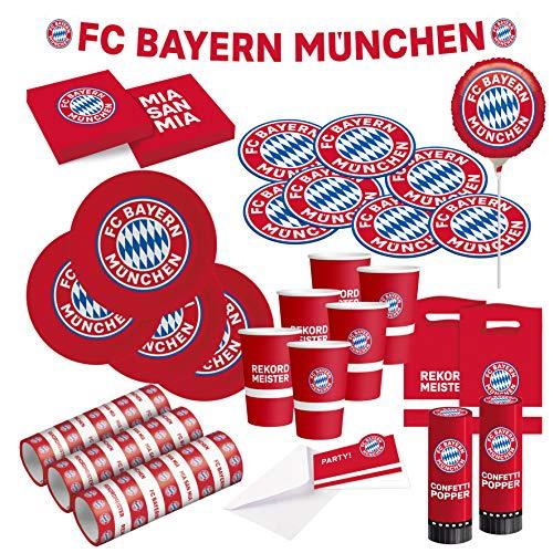 FC Bayern München Party Set · XXL Fußball Party Set 71 teilig...
