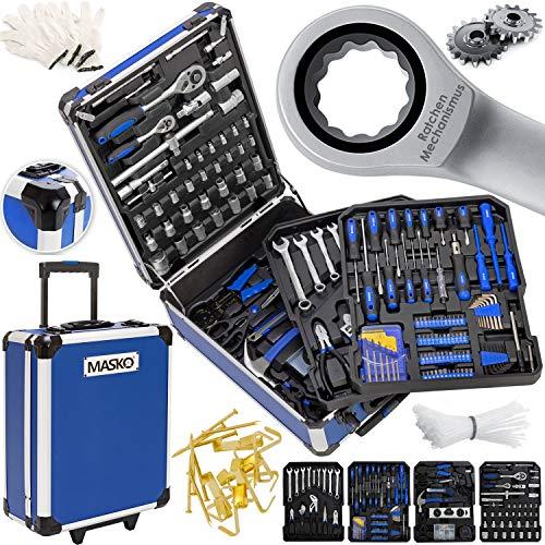Masko® 969 tlg Werkzeugkoffer Werkzeugkasten Werkzeugkiste Werkzeug...