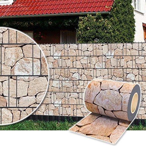Plantiflex Sichtschutz Rolle 35m Blickdicht PVC Zaunfolie Windschutz...