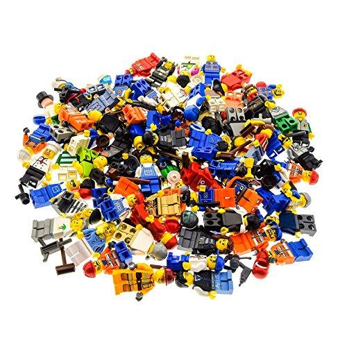10 x Lego System Figuren Town City Mini Figur mit Zubehör Mann Frau...