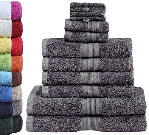 GREEN MARK Textilien 10 TLG. FROTTIER Handtuch-Set mit verschiedenen...
