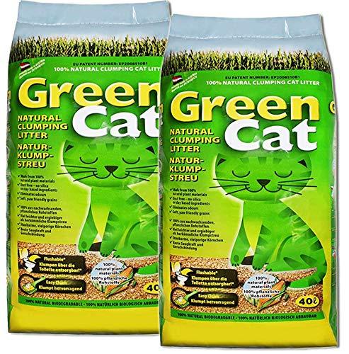 Green Cat Natur-Katzenklumpstreu 2X 40L (80L)