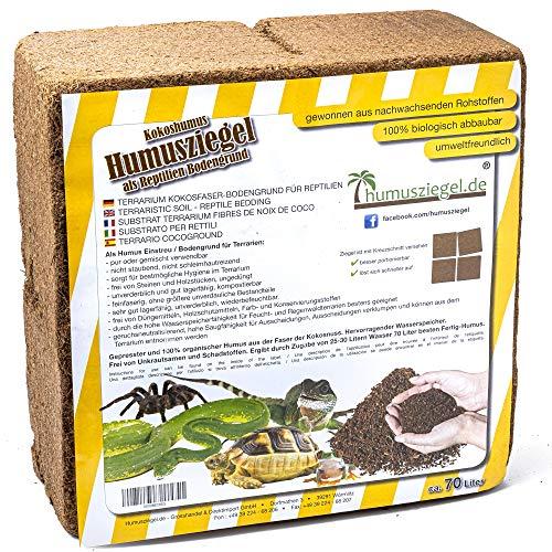 Humusziegel - Kokoseinstreu Bodensubstrat für Reptilien -...