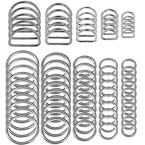 SENHAI 50 Stück Sortiert Splitter-O-Ring & 20 Stück Mehrzweck Metall...