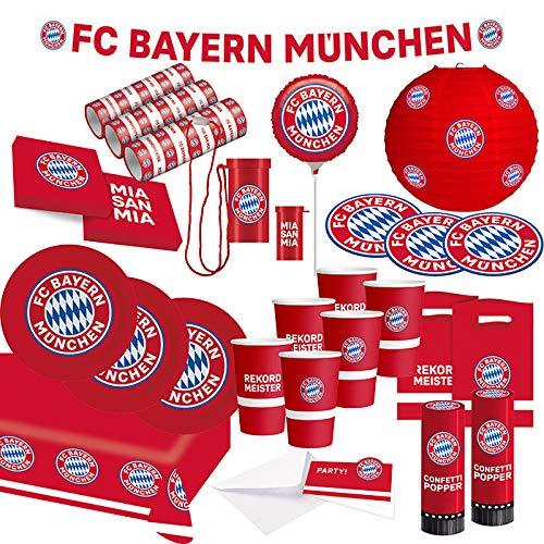 FC Bayern München Party Set · XXL Fußball Party Set 74 teilig...