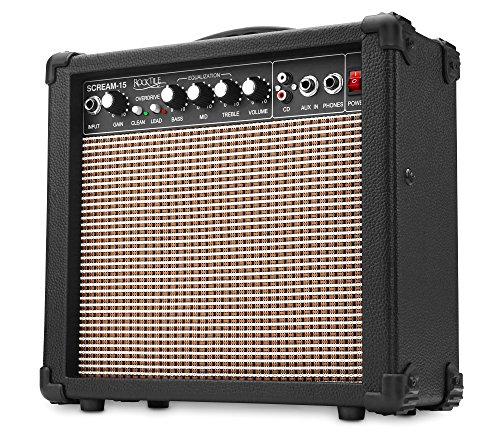 Rocktile Scream 15 Gitarrenverstärker Mini Combo Amp (15 Watt...