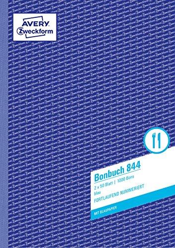 AVERY Zweckform 844 Bonbuch (A4, 1.000 fortlaufend nummerierte Bons,...
