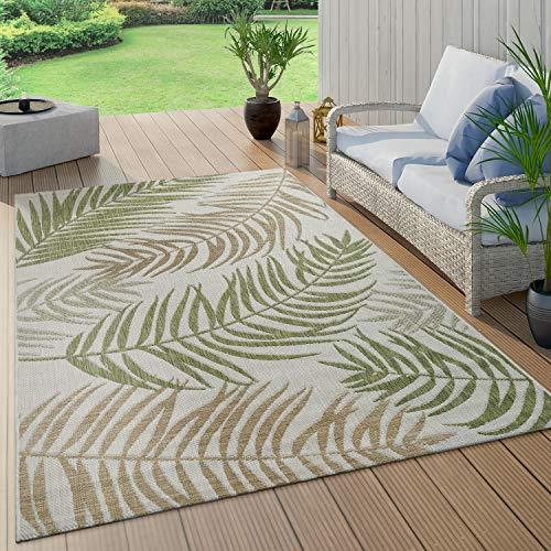 Paco Home In- & Outdoor Teppich Flachgewebe Modern Jungle Palmen...