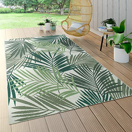 Paco Home In- & Outdoor Teppich Flachgewebe Jungel Gecarvtes Florales...