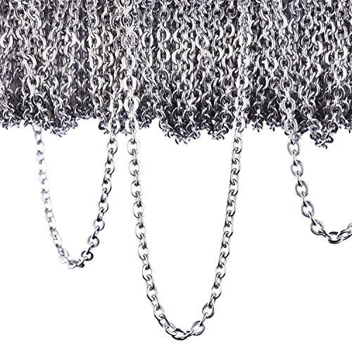 12 Meter Edelstahl Kabel Kette Link Kette Halskette für Schmuck...