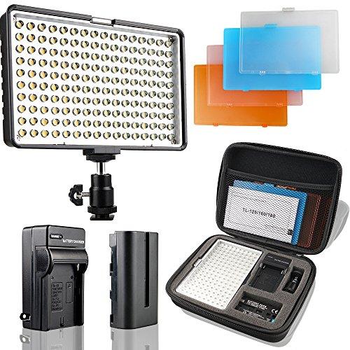 SAMTIAN LED Videoleuchte 160 LED Kamera Licht für Canon, Nikon,...
