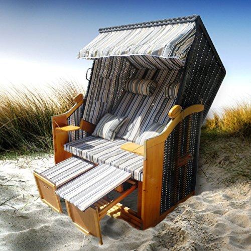 BRAST Strandkorb Deluxe 2-Sitzer XXL für 2 Personen 120cm breit...