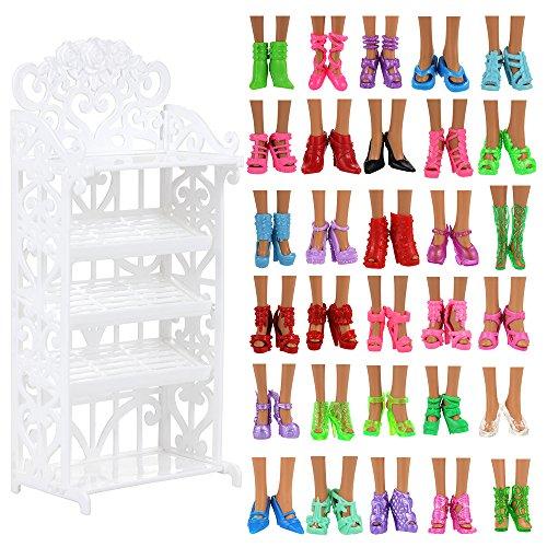 Miunana Schuhschrank Schuhgestell Lagerung + 40 Paar Schuhe Zubehör...