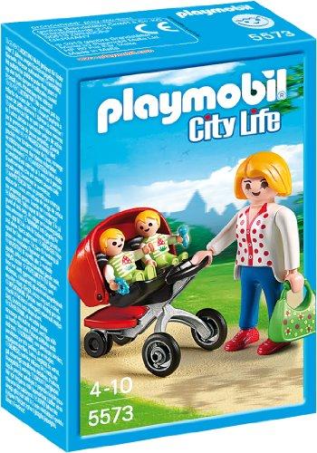 PLAYMOBIL City Life - 5573 Zwillingskinderwagen, ab 4 Jahren [Toy...