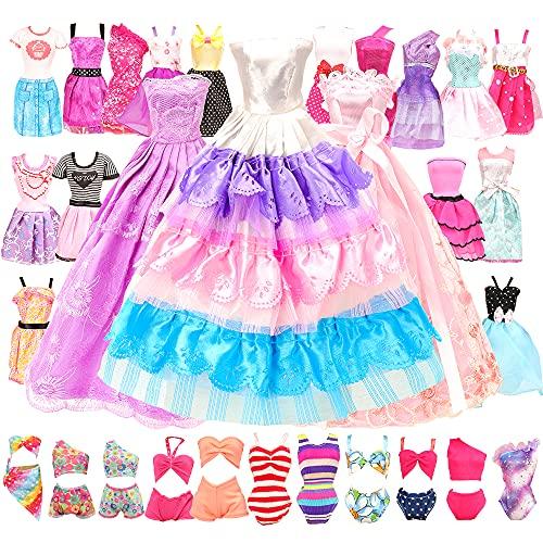Miunana 16 Kleidung Zubehör für Puppen = 10 Casual Klediung Kleider...